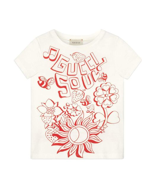 9588d768 Lyst - Gucci Soul & Love Short-sleeve T-shirt in White