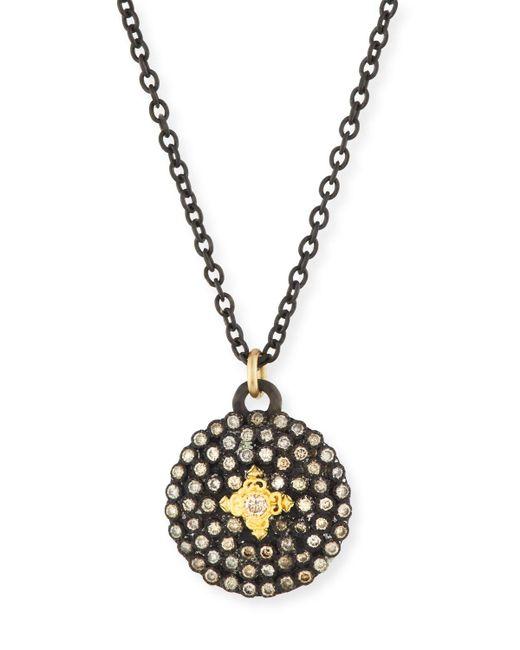 Armenta - Metallic Old World Midnight Small Round Shield Pendant Necklace - Lyst
