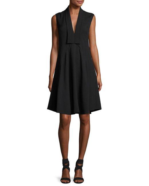 Derek Lam   Black Sleeveless V-neck Silk Dress   Lyst