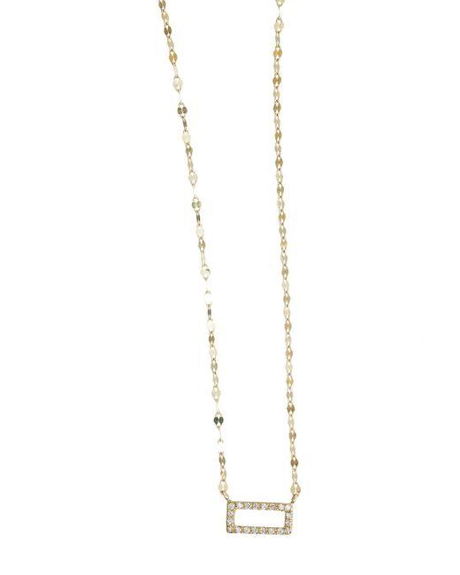 Lana Jewelry   Metallic Mini Diamond Rectangle Pendant Necklace   Lyst
