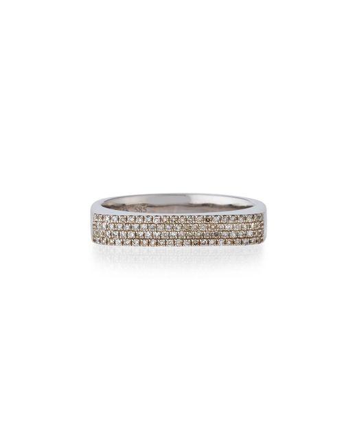 EF Collection - Metallic 14k Gold Jumbo Bar Ring With Diamonds - Lyst