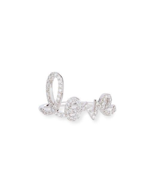 Sydney Evan - Metallic Large Love 14k Gold Ring With Diamonds - Lyst