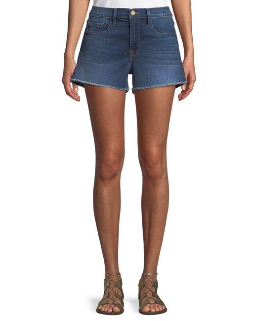 FRAME Blue Le Cutoff Denim Shorts