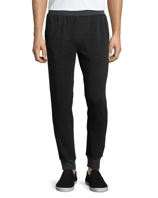 ATM Black Long Knit Board Pants for men