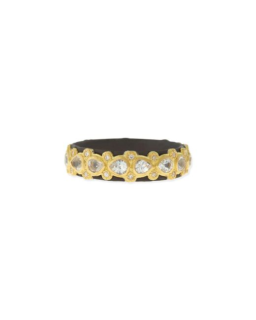 Armenta Metallic Pear Sapphire & Diamond Band Ring