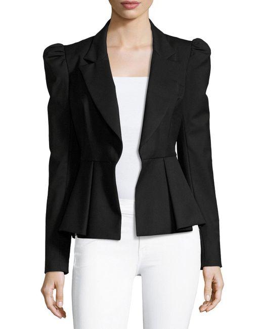 MILLY - Black Victoria Italian Stretch-wool Gabardine Blazer - Lyst