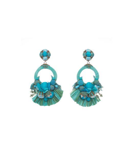 Ranjana Khan - Blue Petal Clip-on Drop Earrings - Lyst