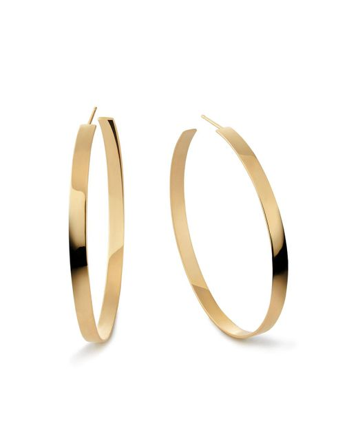 Lana Jewelry - Metallic 14k Flat Hoop Earrings - Lyst
