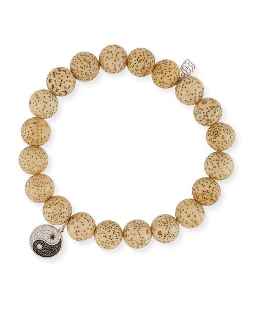 Sydney Evan Brown Potato Pearl Bracelet with Sapphire & Diamond Lotus Station Dx5XhSkev