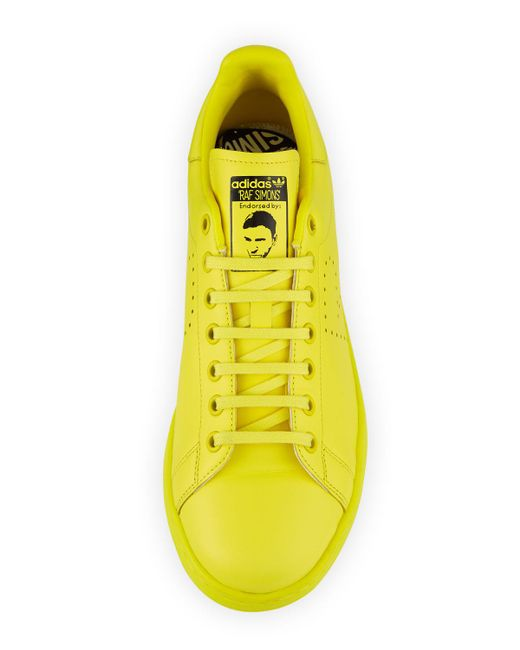 official photos 47f01 74d95 ... Adidas By Raf Simons - Yellow Men s Stan Smith Leather Low-top Sneakers  for Men ...