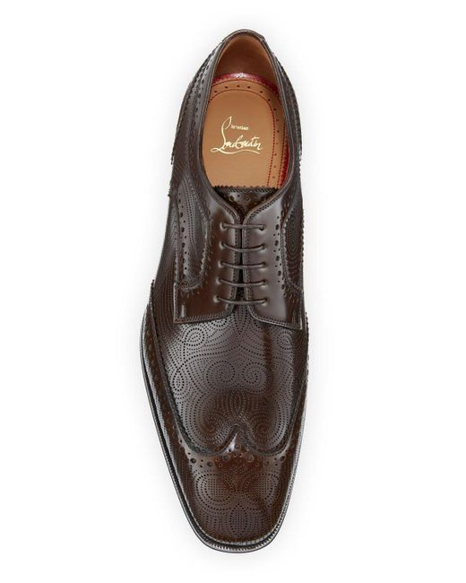 buy popular e8147 3310b Brown Men's Cousin Derbissimo Brogue Leather Derby Shoes