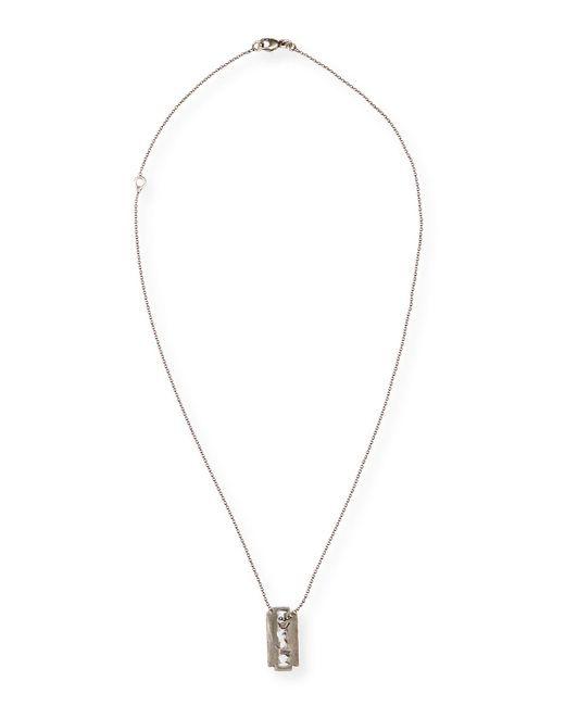 Saint Laurent   Metallic Men's Razor Blade Necklace   Lyst