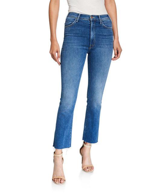 Mother Blue The Hustler Ankle Fray Jeans
