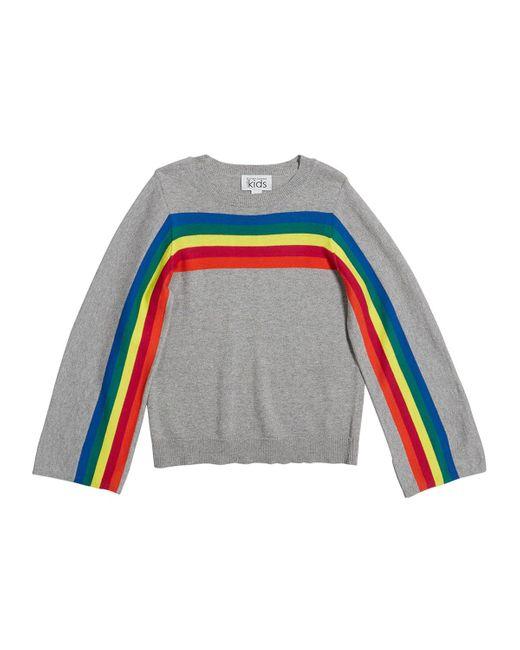 Autumn Cashmere Multicolor Rainbow Stripe Cotton Sweater