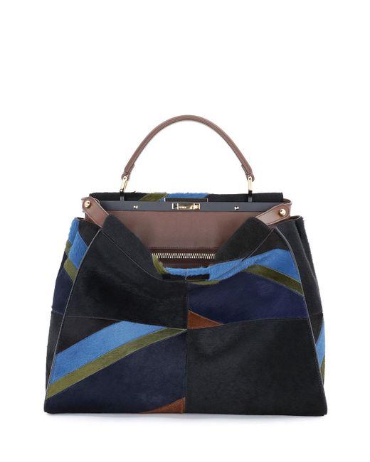Fendi | Multicolor Peekaboo Large Calf Hair Marquetry Satchel Bag | Lyst