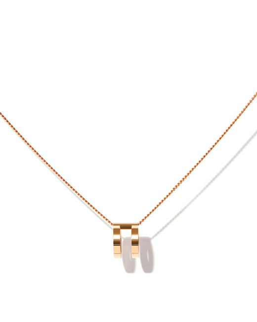 Repossi   Metallic Two-row Pendant Necklace In 18k Rose Gold   Lyst