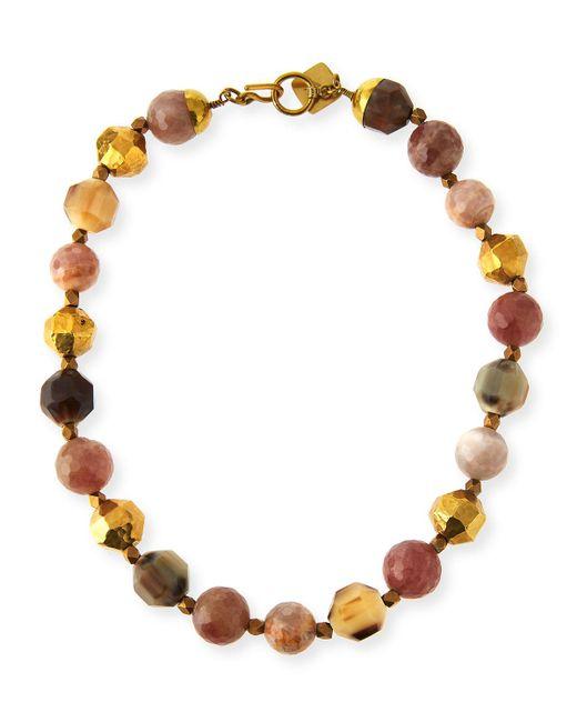 Ashley Pittman   Multicolor Kamili Mixed Horn Beaded Necklace   Lyst