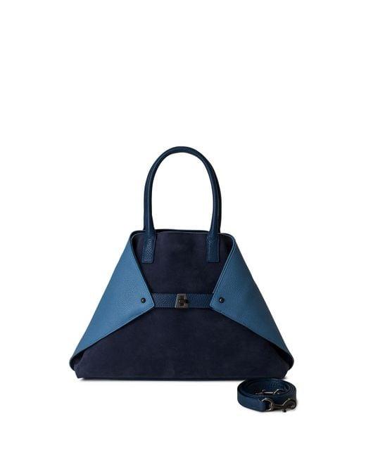 Akris | Blue Ai Small Colorblock Top-handle Bag | Lyst