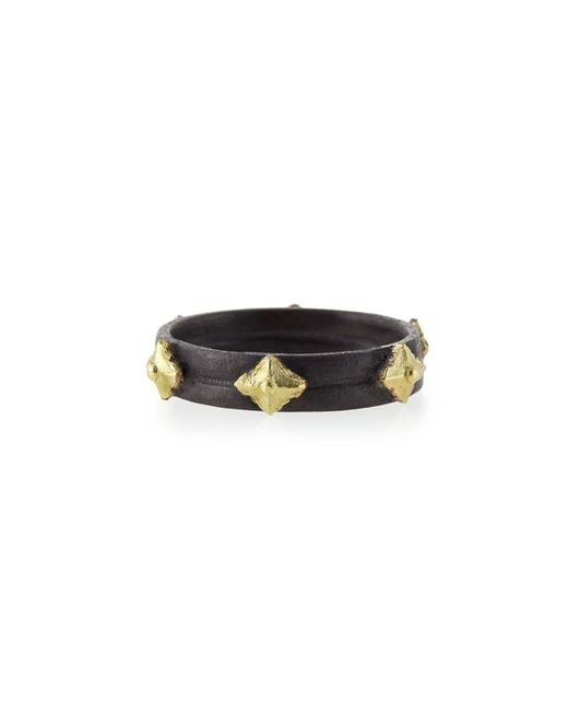 Armenta | Black Midnight & 18k Cravelli Plain Stackable Band Ring | Lyst
