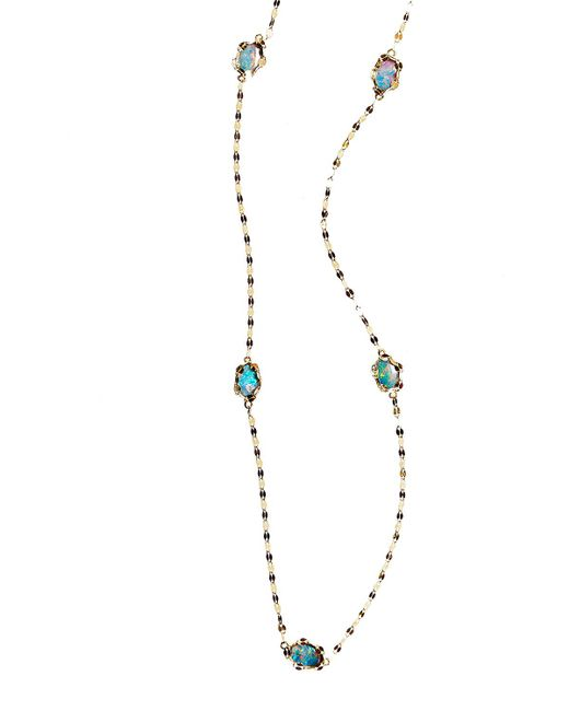 Lana Jewelry | Metallic Frosted Ombre Opal Station Necklace | Lyst