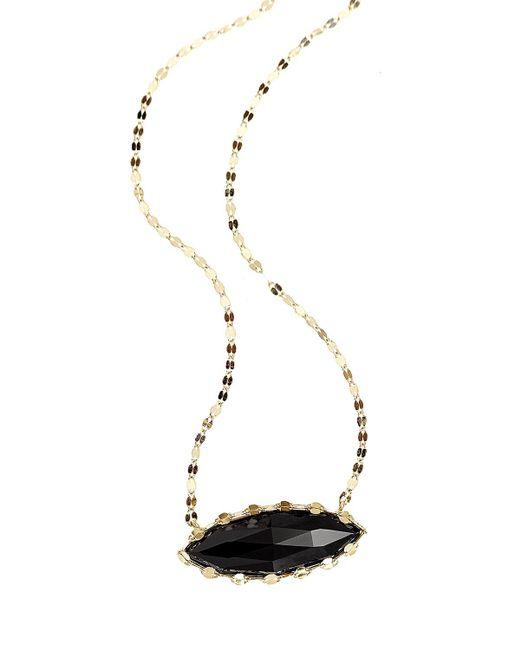 Lana Jewelry | Black Noir Onyx Marquis Pendant Necklace | Lyst