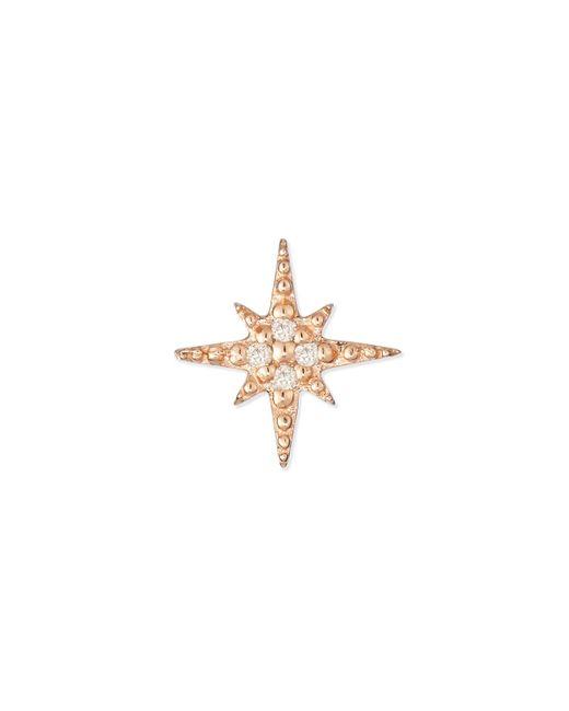 Sydney Evan | Pink Starburst Diamond Single Stud Earring | Lyst