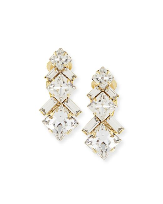 Auden | Metallic Ryder Crystal Clip-on Earrings | Lyst