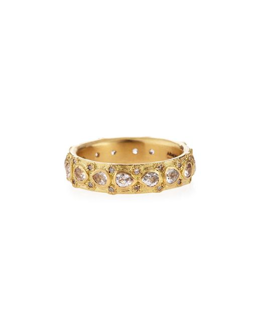 Armenta | Metallic Yellow Gold Lacy Eternity Stackable Ring | Lyst