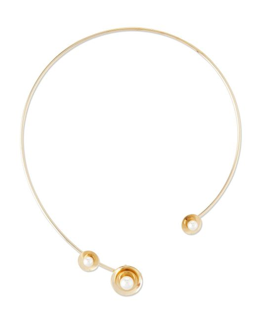 Auden | Metallic Lyra Pearly Collar Necklace | Lyst