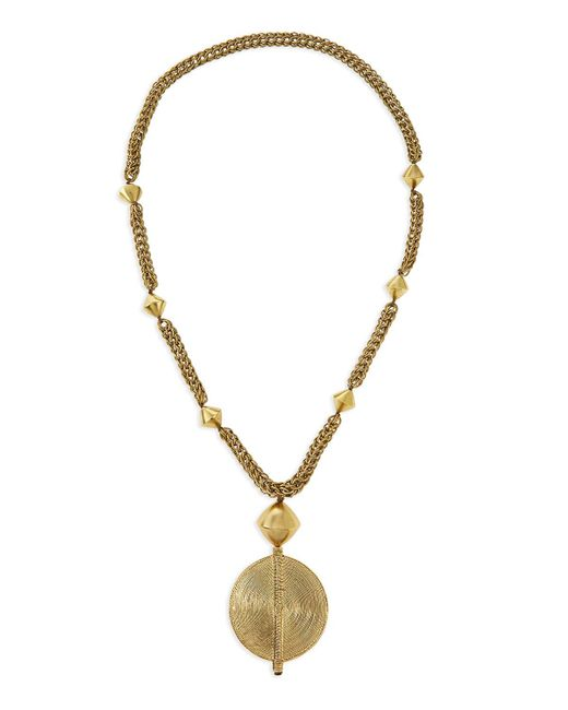 Nest | Metallic Brass Medallion Long Chain Necklace | Lyst