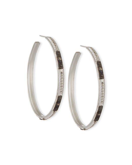 Armenta | Metallic New World Square-motif Diamond Hoop Earrings | Lyst