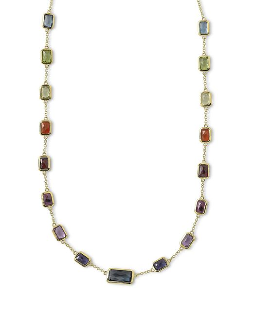 Ippolita | Metallic 18k Rock Candy Fall Rainbow Chain Necklace | Lyst