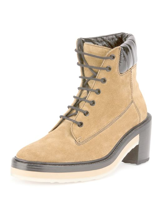 Pierre Hardy | Beige Working Girl Suede Lace-up Boot | Lyst