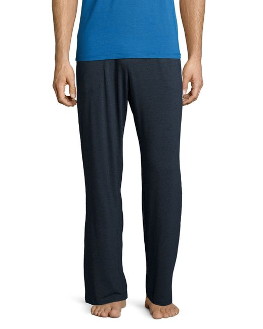 Derek Rose Jersey Knit Lounge Pants In Blue For Men Lyst