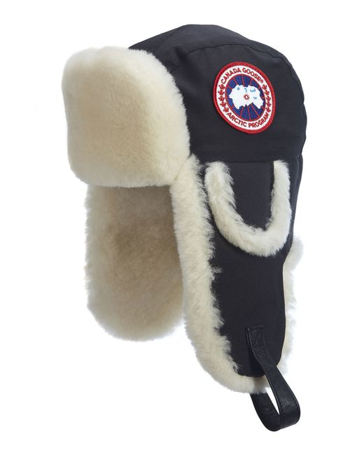 Canada Goose   Black Shearling Fur Pilot Hat for Men   Lyst