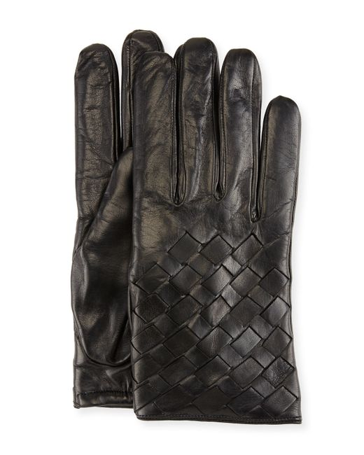Basket Weaving Supplies Nyc : Imoni leather basketweave gloves in black save lyst