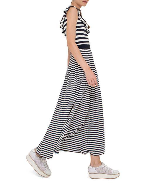 Akris Punto | Blue Striped Maxi Skirt | Lyst