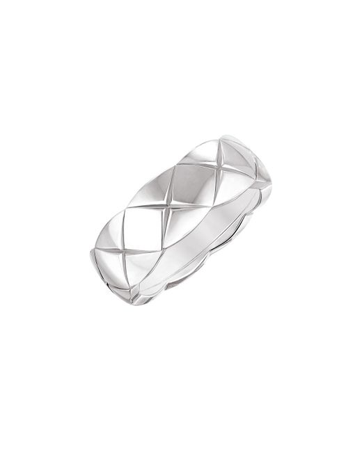 Chanel   Multicolor Coco Crush Ring In 18k White Gold   Lyst