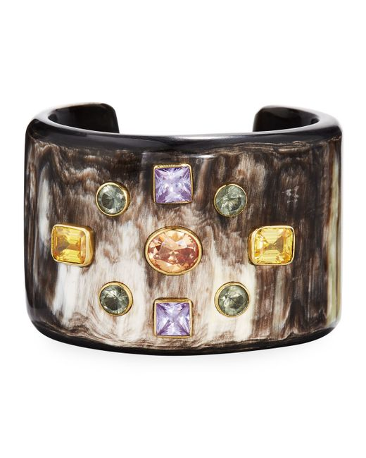 Ashley Pittman   Metallic Mwali Dark Horn Cuff Bracelet   Lyst