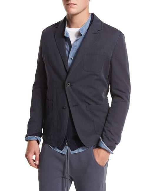Vince Unstructured Sport Coat In Blue For Men Lyst