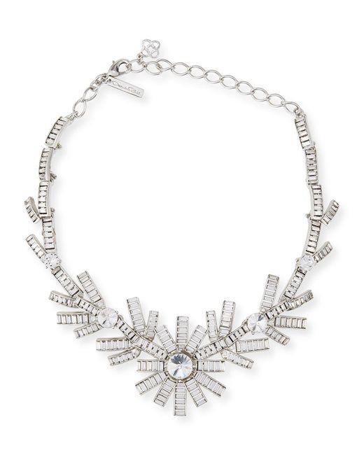 Oscar de la Renta | Metallic Modern Baguette Crystal Necklace | Lyst
