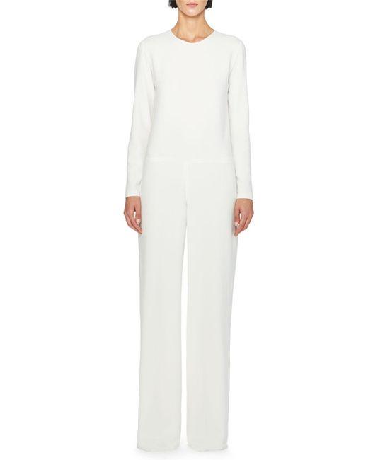 Stella McCartney | White Lace-back Wide-leg Jumpsuit | Lyst