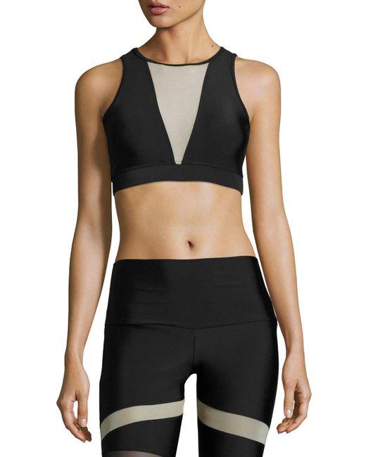 Onzie | Black Briana Mesh-insert Sports Bra | Lyst