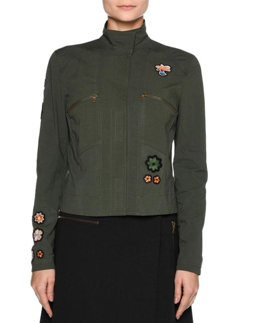 Tomas Maier | Green Patch Jacket-shaped Blouse | Lyst