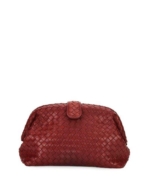Bottega Veneta | Red Lauren Napa Intrecciato Clutch Bag | Lyst