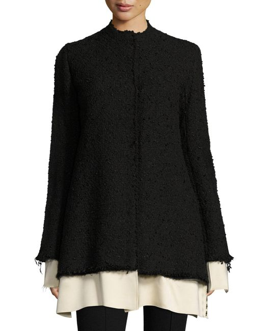 The Row | Black Schrader Contrast-trim Boucle Jacket | Lyst