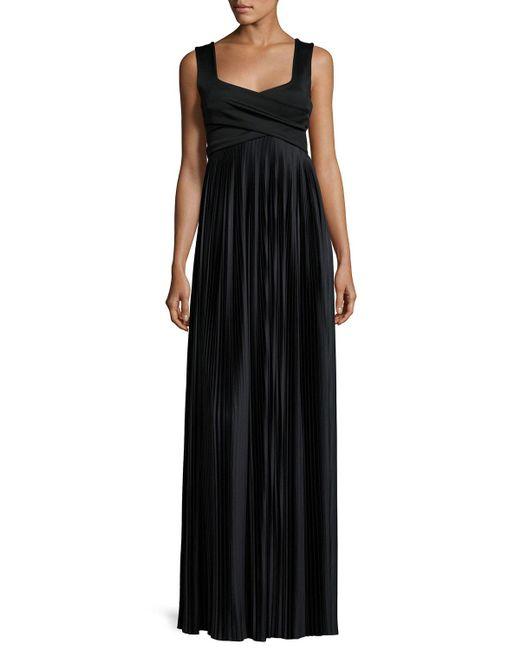 The Row   Black Alain Pleated Sleeveless Gown   Lyst