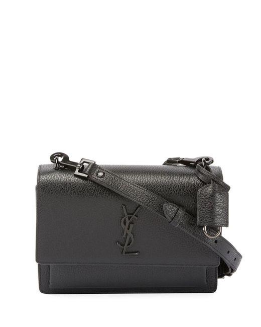Saint Laurent | Black Monogram Sunset Medium Satchel Bag | Lyst