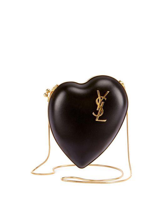 Saint Laurent | Black Love Leather Box Clutch Bag | Lyst