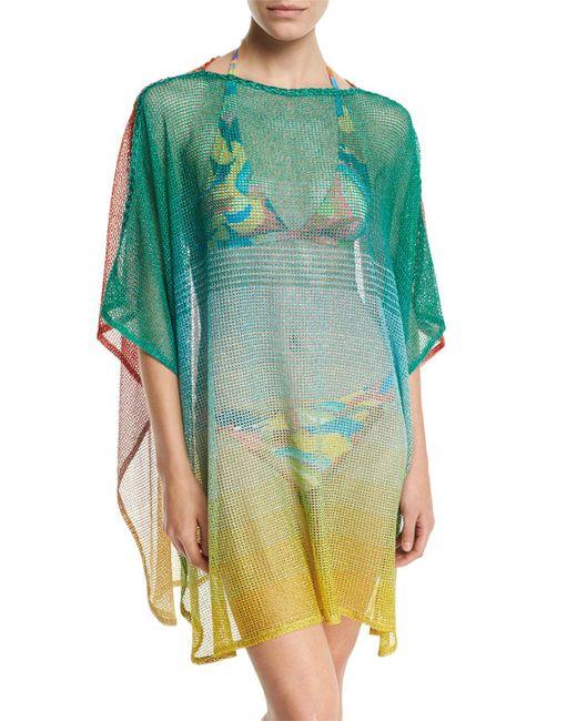 Missoni   Multicolor Ombré Open-knit Coverup   Lyst